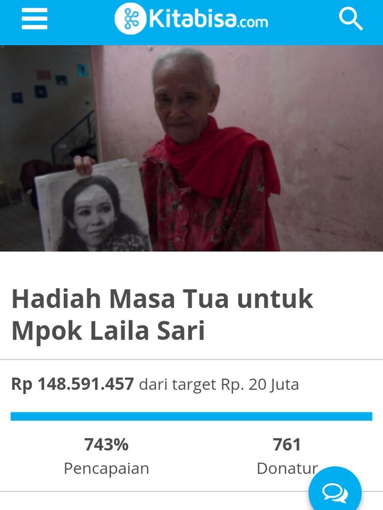 Netizen Sempat Buka Donasi untuk Bantu Perekonomian Laila Sari