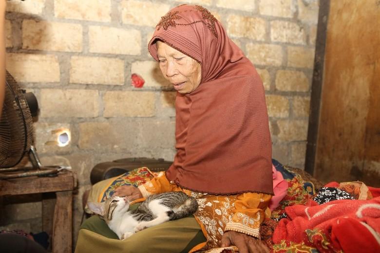 Polisi Renovasi Gubuk Reyot Tempat Nenek dan Kucingnya Tinggal