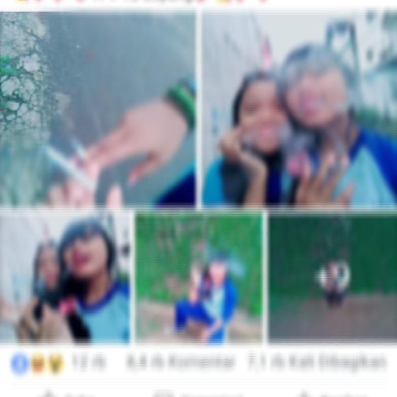 Heboh Foto Bocah Perempuan di Kabupaten Bandung Pose Merokok