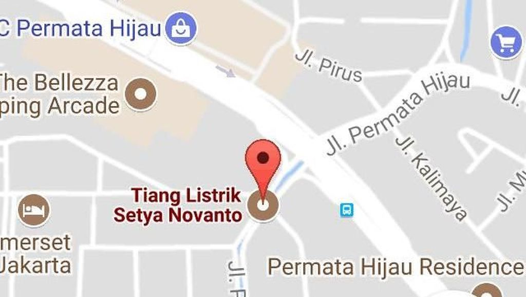 Tiang Listrik Setya Novanto Terlacak di Google Maps