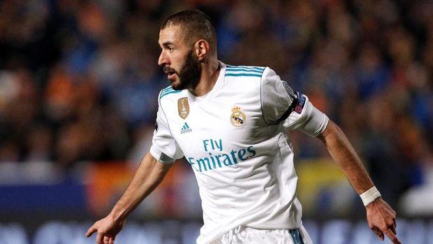 Karim Benzema tetap diperhitungkan menjadi top skor di Liga Champions. (