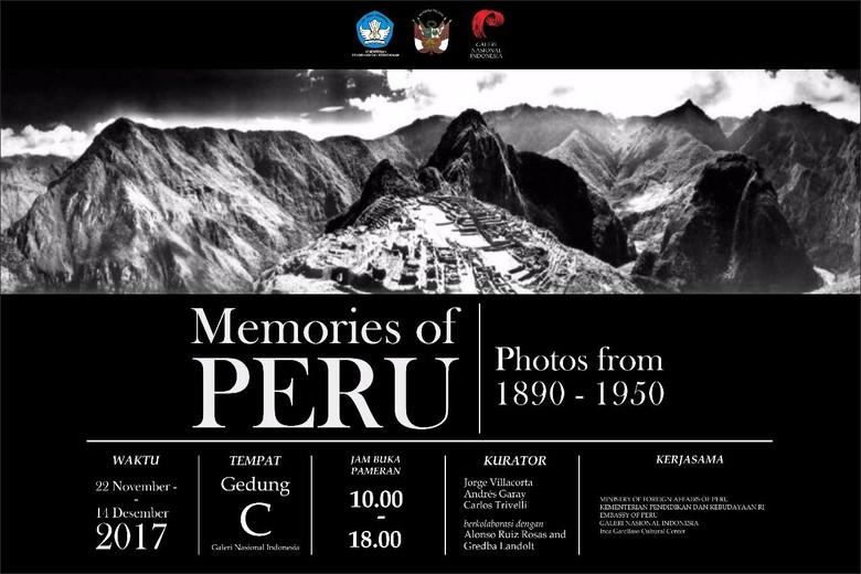 74 Karya Fotografi Peru dari Tahun 1890-1950 Dipajang di Jakarta