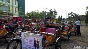 60 Becak Motor Bakal Meriahkan Kirab Kahiyang-Bobby di Medan