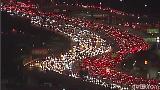 Merah Putih Jalanan Akibat Kemacetan di LA