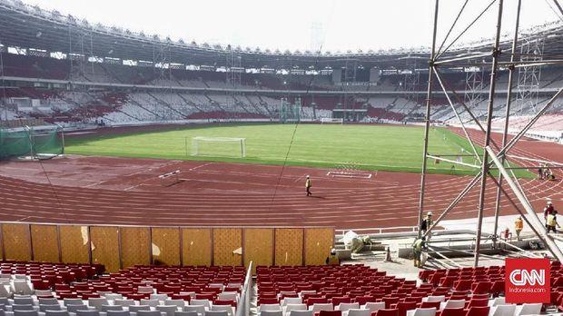 Stadion Utama Gelora Bung Karno masih harus disempurnakan sebelum menggelar Asian Games 2018.