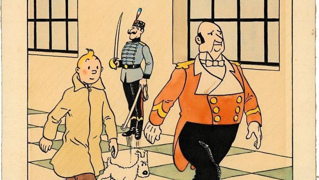 Komik-komik Tintin Temani PM Inggris saat Dirawat karena Corona