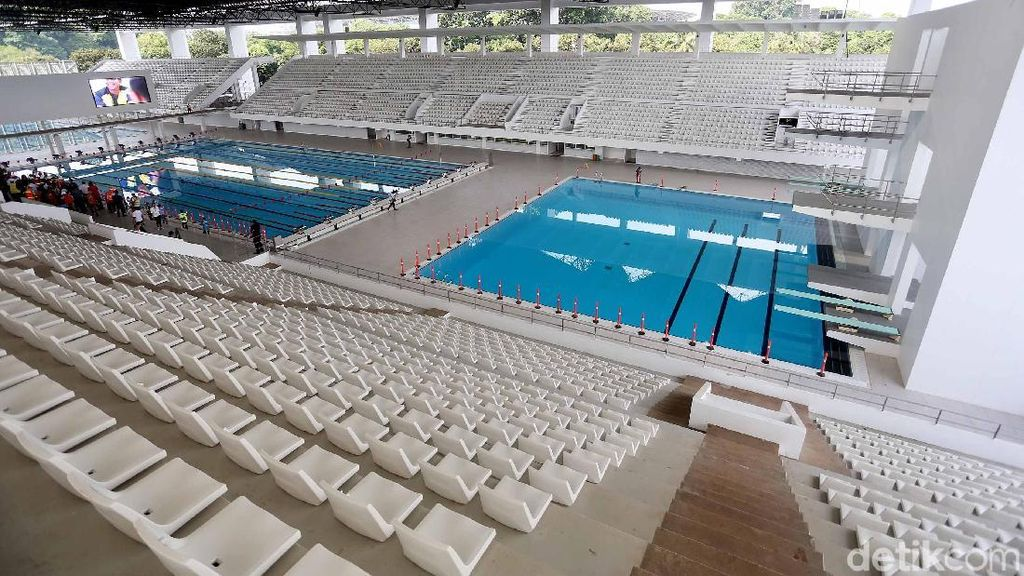 Usai Direnovasi, Wajah Stadion Akuatik Semakin Cantik