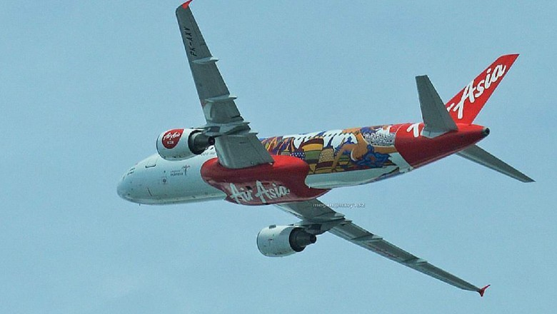 Ilustrasi Pesawat Airasia (Dok. airasia_indo/Instagram)