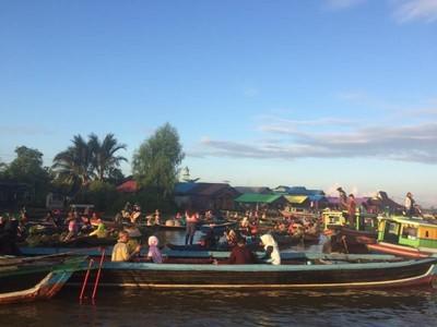 Ini Pasar Terapung Lok Baintan, Ikonnya Banjarmasin