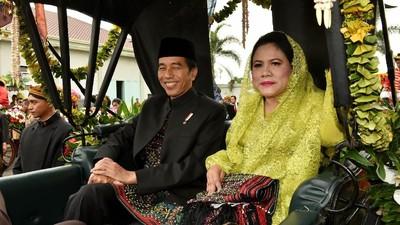Ungkapan Cinta Jokowi untuk Iriana