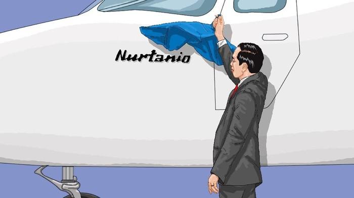 Ilustrasi Pesawat N219 Nurtanio