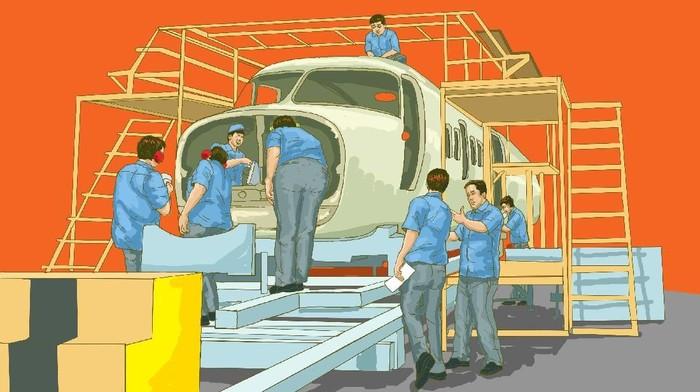 Ilustrasi Pesawat R80
