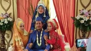 Viral Foto Pernikahan Pria dengan 3 Wanita di Pelaminan