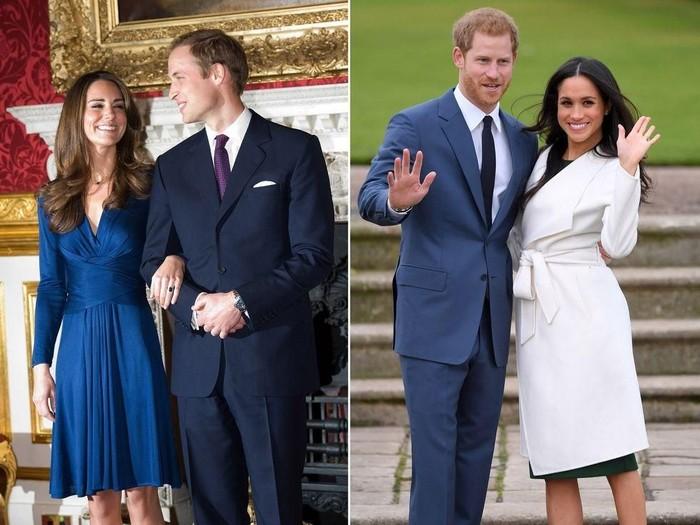 Pangeran William, Kate Middleton, Pangeran Harry dan Meghan Markle