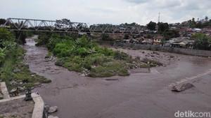 Sungai Cantik di Klungkung Jadi Korban Lahar Dingin Gunung Agung