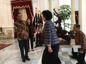 Jokowi Terima Wakil PM China di Istana Merdeka