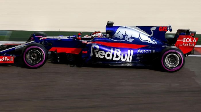 Sean Gelael di Sesi tes F1 Abu Dhabi (Scuderia Toro Rosso)