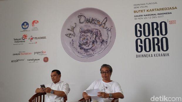 Butet Kartaredjasa Gelar Pameran Tunggal Perdana 'Goro-goro Bhinneka Keramik'