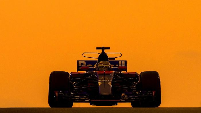 Sean Gelael di sesi tes F1 Abu Dhabi (Foto: Scuderia Toro Rosso)