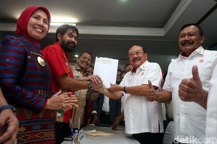Saat mendaftar pihak Aceh dipimpin langsung Sekda Dermawan dan Sumatera Utara dipimpin langsung oleh Wakil Gubernur Nur Marpaung.
