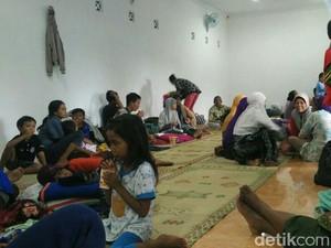 Ratusan Warga Korban Banjir Mengungsi di Kebonagung Bantul