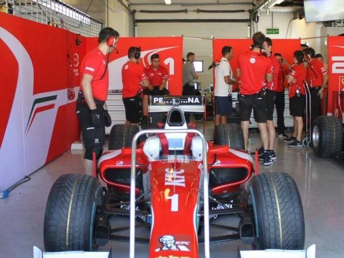 Mobil Sean Gelael saat tes di Abu Dhabi bersama Prema Racing (dok.Sean Gelael)