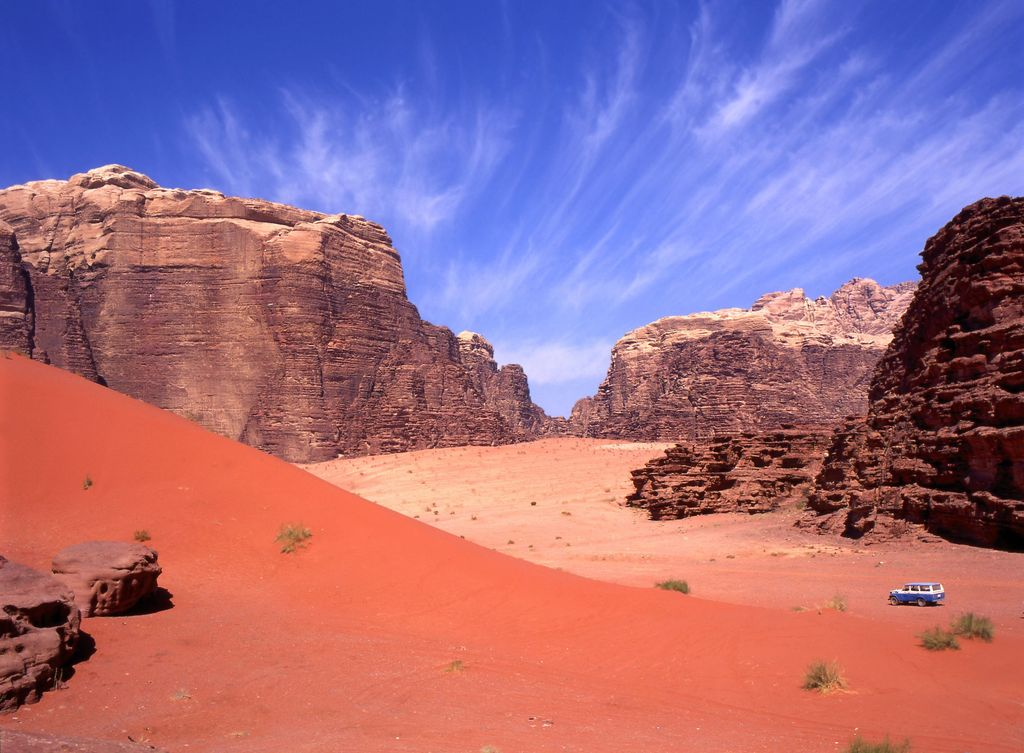 Wadi Rum di Yordania