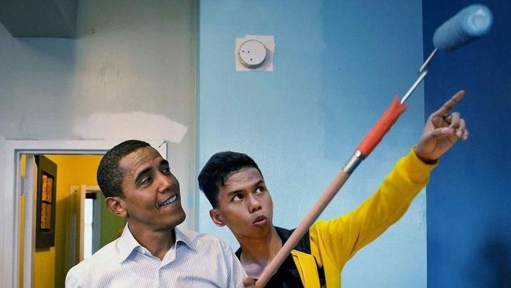 Pria Ini Ajari Obama Ngecat hingga Ada di Pundak Tom Cruise