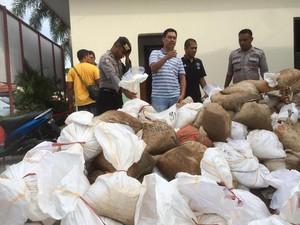 Polisi Gagalkan Penyelundupan 8 Ton Batu Cinnabar