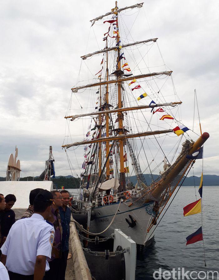 Kapal ini tiba di Sabang sejak 28 November 2017 lalu, setelah sebelumnya dilepas oleh Menko Maritim Luhut Binsar Panjaitan dari Pelabuhan Tanjung Priok pada 20 November 2017.