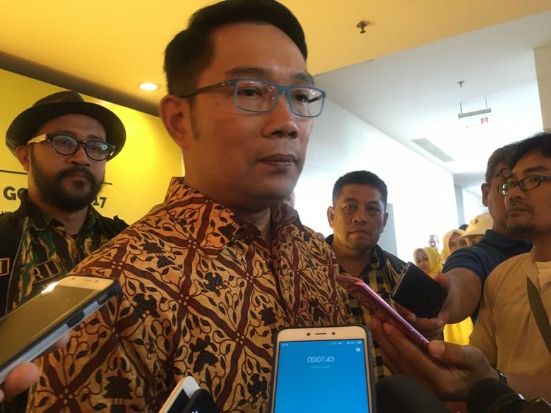 Ridwan Kamil Tak Takut Tiket Pilgub Jabar dari Golkar Pindah Tangan