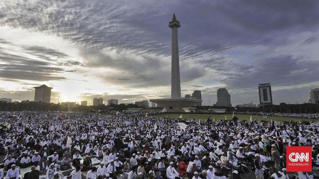 Reuni Akbar Alumni 212 di Lapangan Monas, Jakarta, 2017.