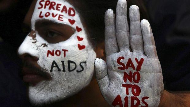 Ilustrasi hiv/aids.
