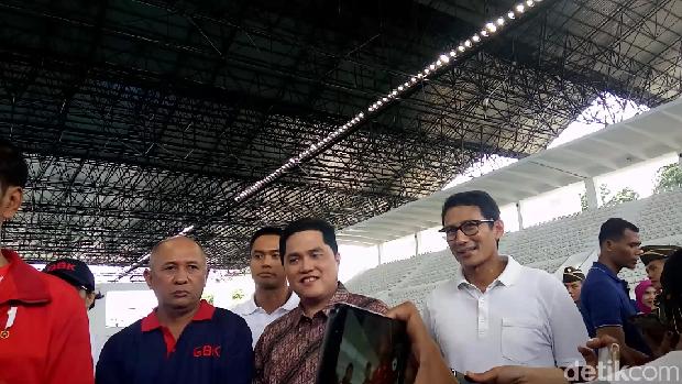 Sandiaga saat meluruskan pernyataan Jokowi soal venue BMX.