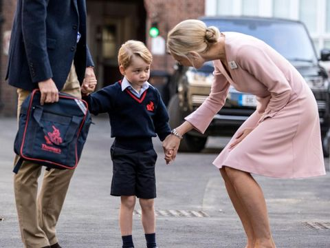 Pangeran George saat hari pertama sekolah.