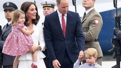 Trik Pangeran William dan Kate agar Anak Tak Rewel di Depan Umum