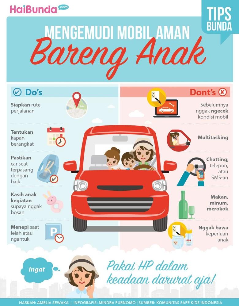 Tips Mengemudi Bareng Anak  Biar Aman (Foto: Infografis)