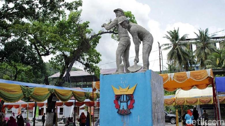 Monumen Sawahlunto sebagai Kota Tambang (Randy/detikcom)
