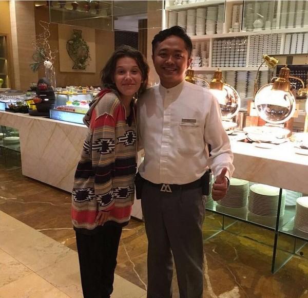 Aktris kelahiran 2004 ini menginap di Mulia Villa, Nusa Dua (milliebobbybrown/Instagram)
