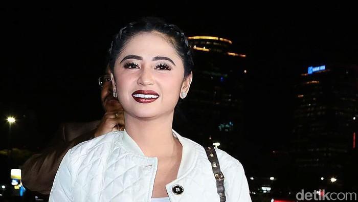 Dewi Persik yang akan jadi duta lalu lintas (Foto: Ismail/detikHOT)