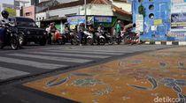 Keren! Seperti Ini Penampakan Zebra Cross di Kota Batik Pekalongan
