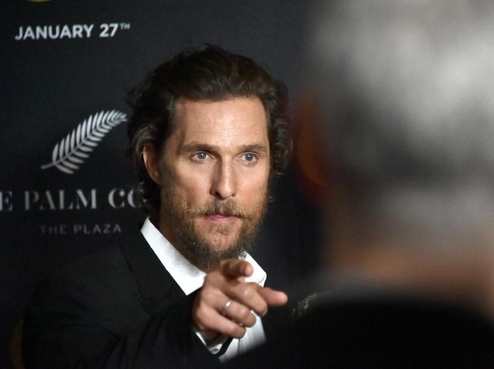 NEW YORK, NY - JANUARY 17:  Actor Matthew McConaughey attends The World Premiere of Gold hosted by TWC - Dimension with Popular Mechanics, The Palm Court & Wild Turkey Bourbon at AMC Loews Lincoln Square 13 theater on January 17, 2017 in New York City.  (Photo by Mike Coppola/Getty Images)