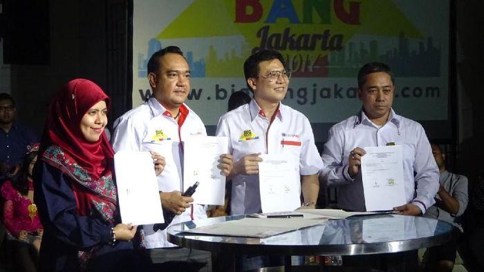 Konferensi pers BigBang Jakarta 2017/Foto: Raras Prawitaningrum/detikcom