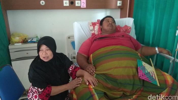 Yudhi Hermanto saat menjalani perawatan di RSUD Karawang, beberapa waktu lalu. (Foto: Luthfiiana Awaluddin/detikcom)