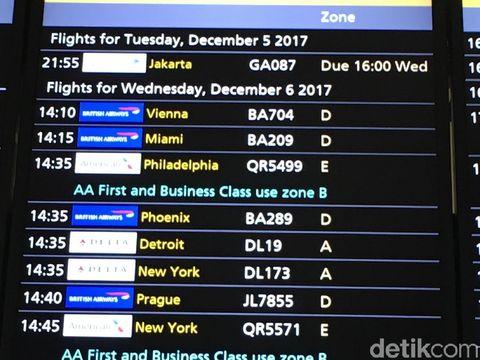Sempat Batal Terbang, Garuda Jakarta-London Akhirnya Mengudara