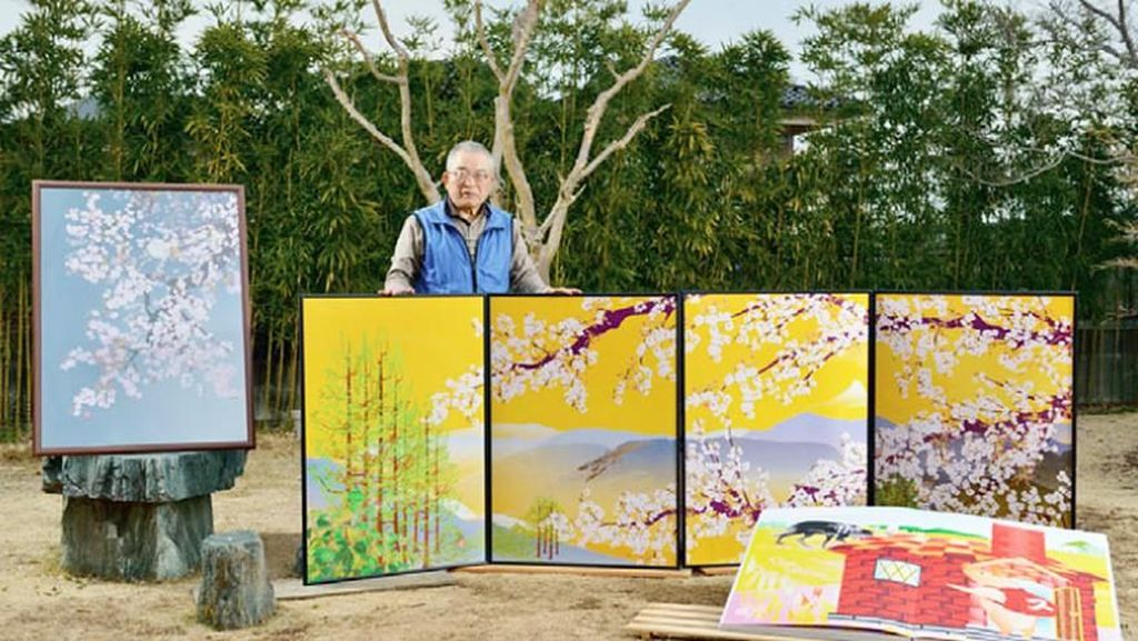 Kakek itu bernamaTatsuo Horiuch usia 77 tahun asal Jepang. Di usia senjanya ia telah menghasilkan deretan lukisan yang memukau.(Foto: Tatsuo Horiuchi)