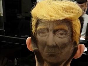 Unik! Wajah Trump Jadi Model Potongan Rambut di Taiwan