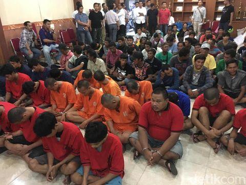 55 preman dijaring di beberapa lokasi di Jakpus
