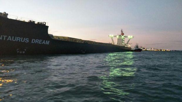 Kapal Kargo Berbendera Jepang Kandas di Perairan Cilegon