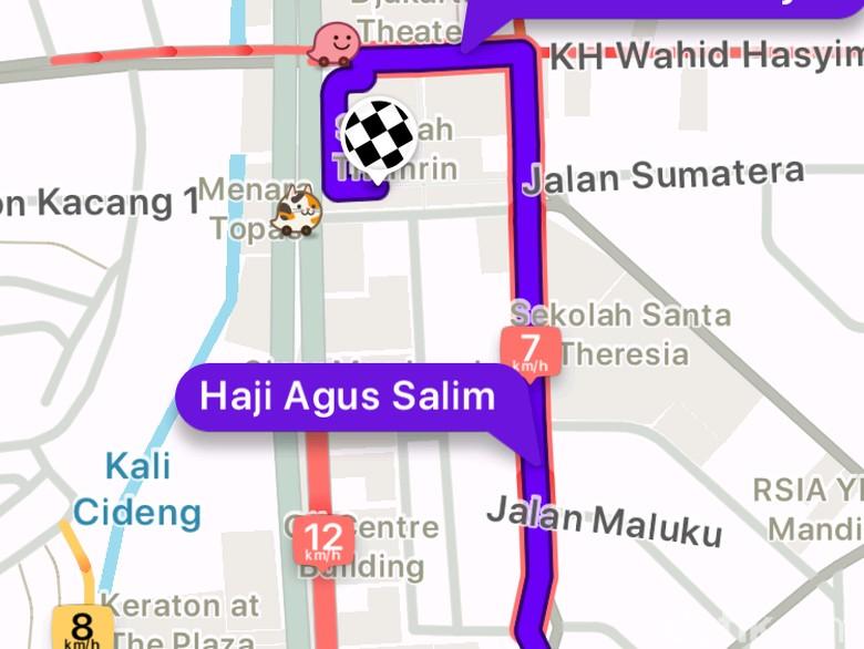 Gunakan GPS di Jalan Boleh, Asal.. Foto: Screenshot Waze